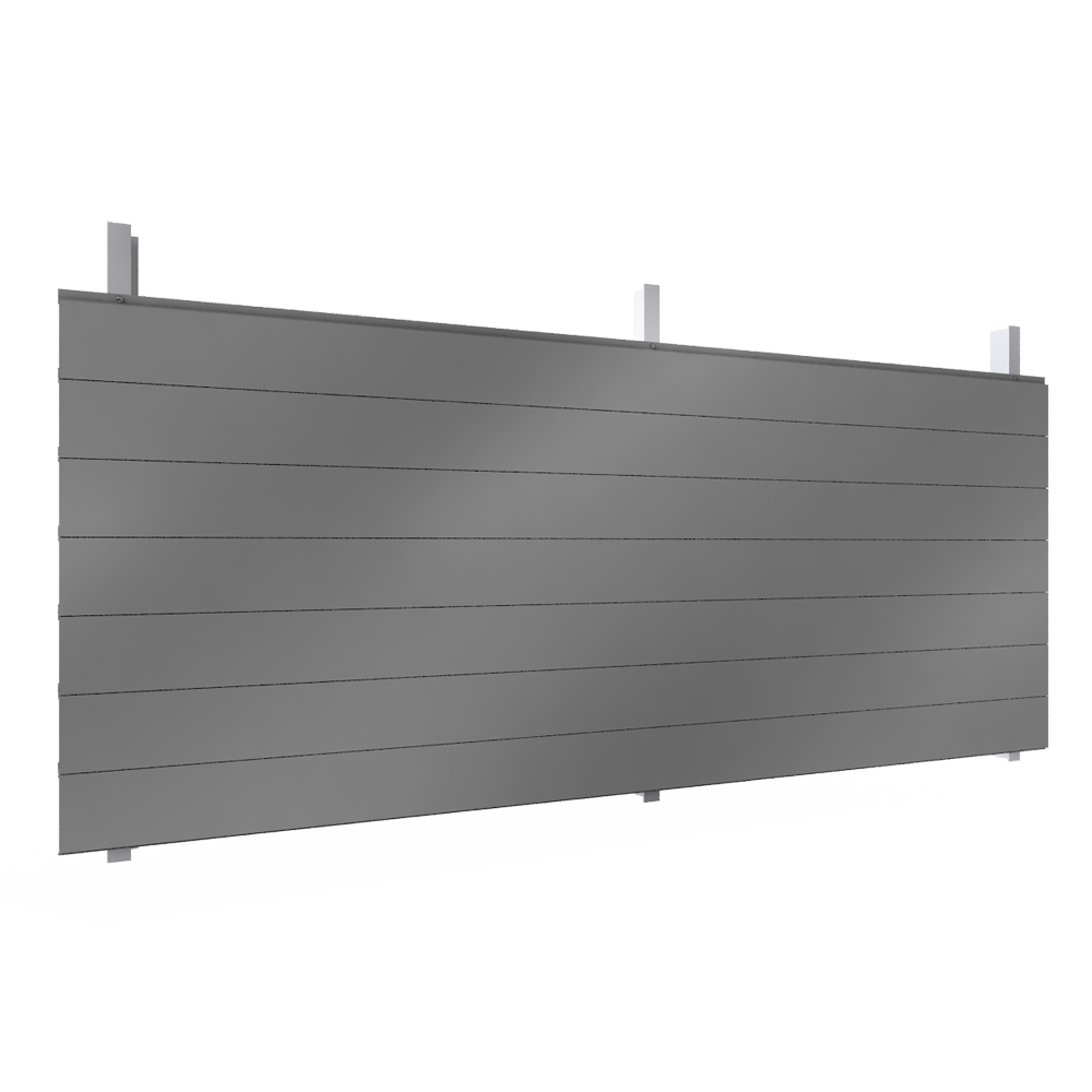 bardage simple peau base de lames en acier ou aluminium. Black Bedroom Furniture Sets. Home Design Ideas