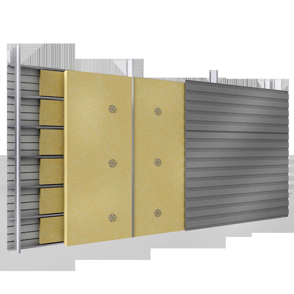 bardage en acier double peau en pose horizontale avec plateaux pleins et carteurs et en 2 lits. Black Bedroom Furniture Sets. Home Design Ideas