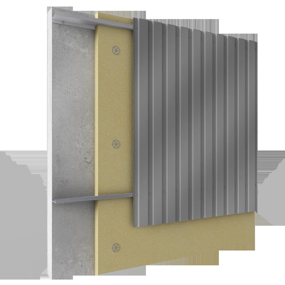 bardage en acier rapport en pose verticale avec isolation. Black Bedroom Furniture Sets. Home Design Ideas