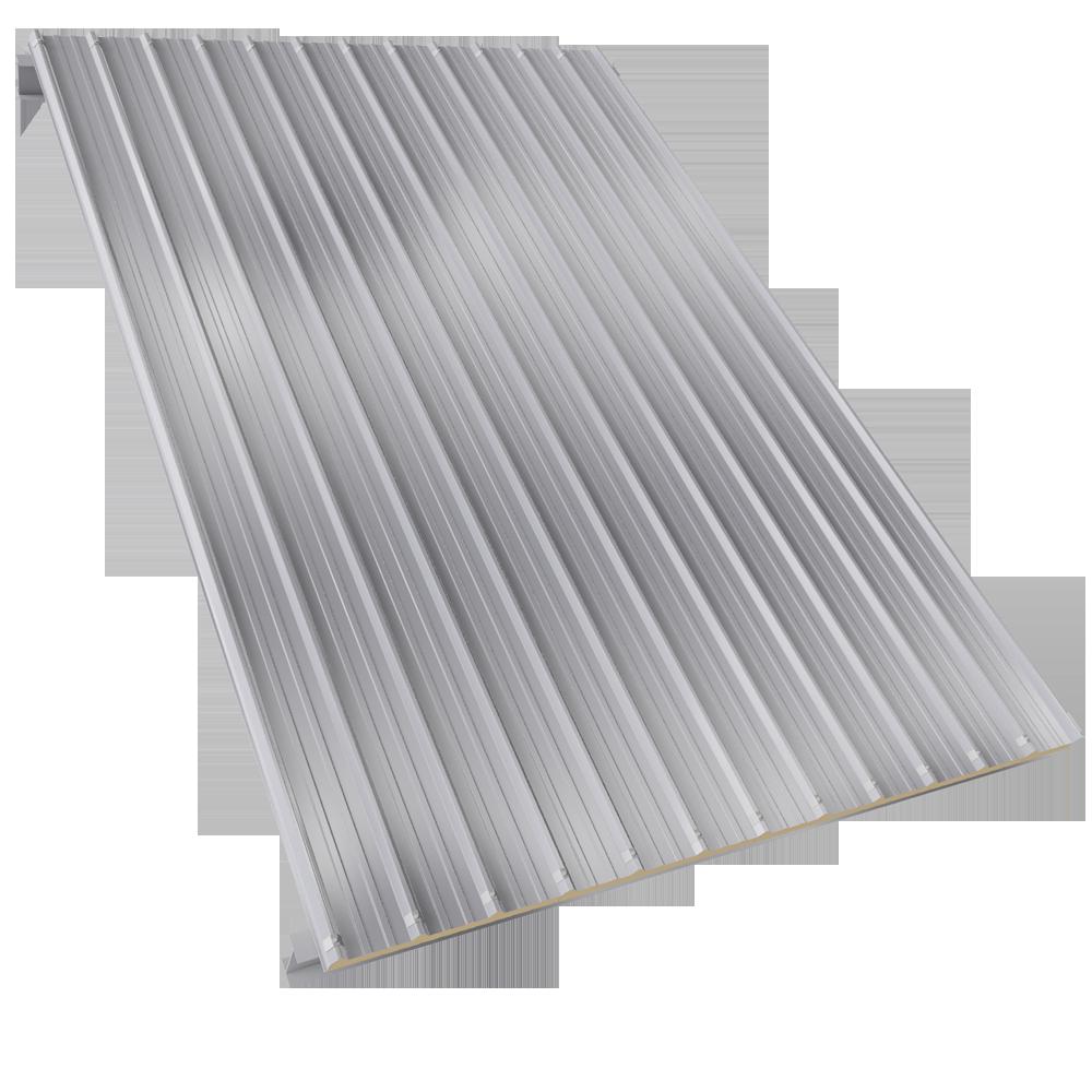 Couverture en panneaux sandwich à 2 parements acier et à âme PUR/PIR